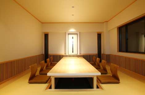 倉敷の和食なら、テーブル席多数あります